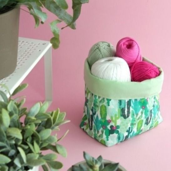 Free Pattern Pieces for a Fabric Basket  at Makerist - Image 1