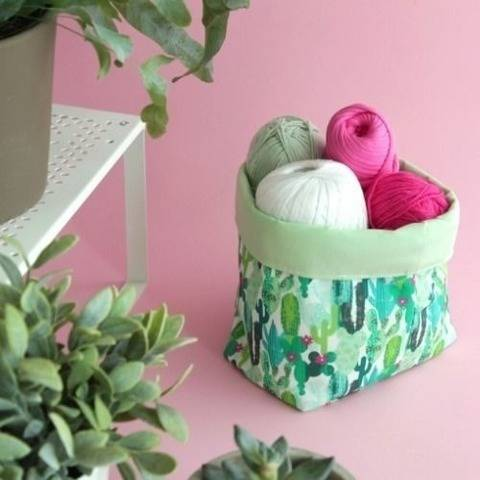 Free Pattern Pieces for a Fabric Basket
