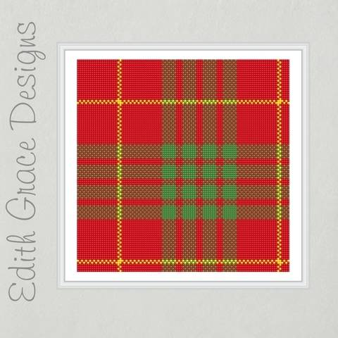 Cameron Tartan Needlepoint Pattern at Makerist