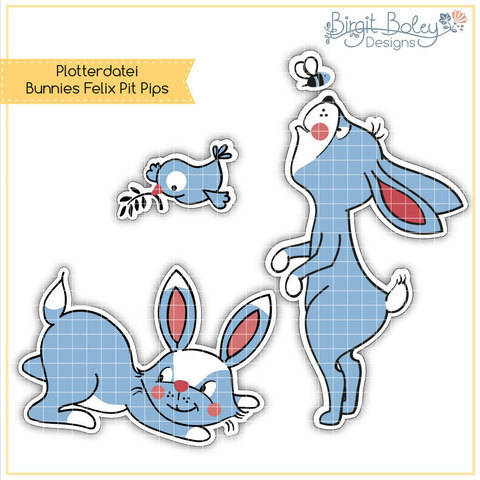 Birgit Boley Designs • Bunnies Felix Pit Pips