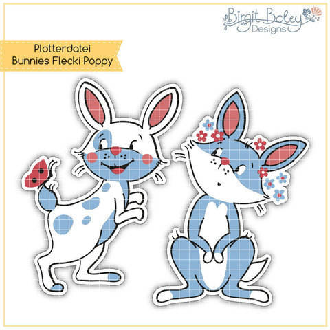 Birgit Boley Designs • Bunnies Flecki Poppy
