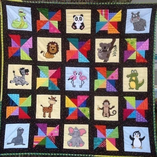 "Zoo Animal Quilt Pattern - ""A Day at the Zoo"" at Makerist - Image 1"