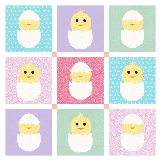 Easter Chicks Quilt Pattern at Makerist - Image 1