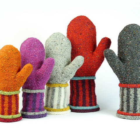 mittens DANTE knitting pattern in 5 sizes