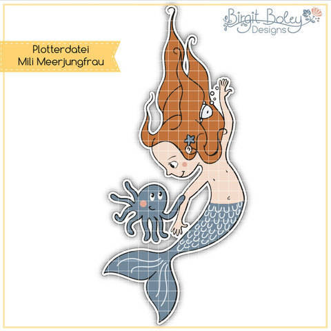 Birgit Boley Designs • Mili Meerjungfrau  bei Makerist