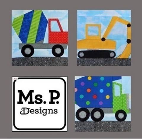 Construction Equipment Paper Pieced Pattern Set