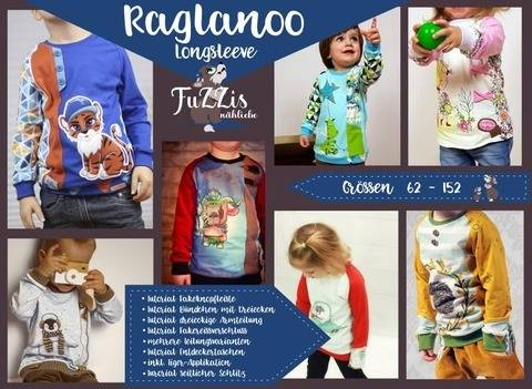 "Longsleeve""Raglanoo"" inkl. Minigewerbelizenz+Tiger-Appli"