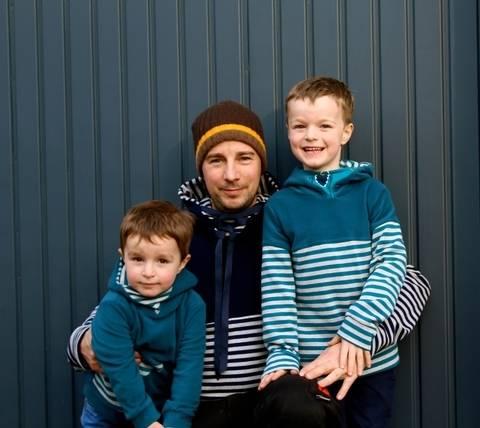 ✂Schnittmuster Florian Flo und Mini-Flo ✂ Hoodie mit Dreiecks-Kapuze