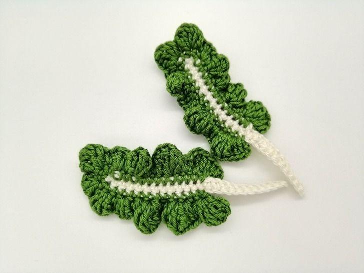 Tutoriel feuille de blette au crochet pour dinette/marchande chez Makerist - Image 1
