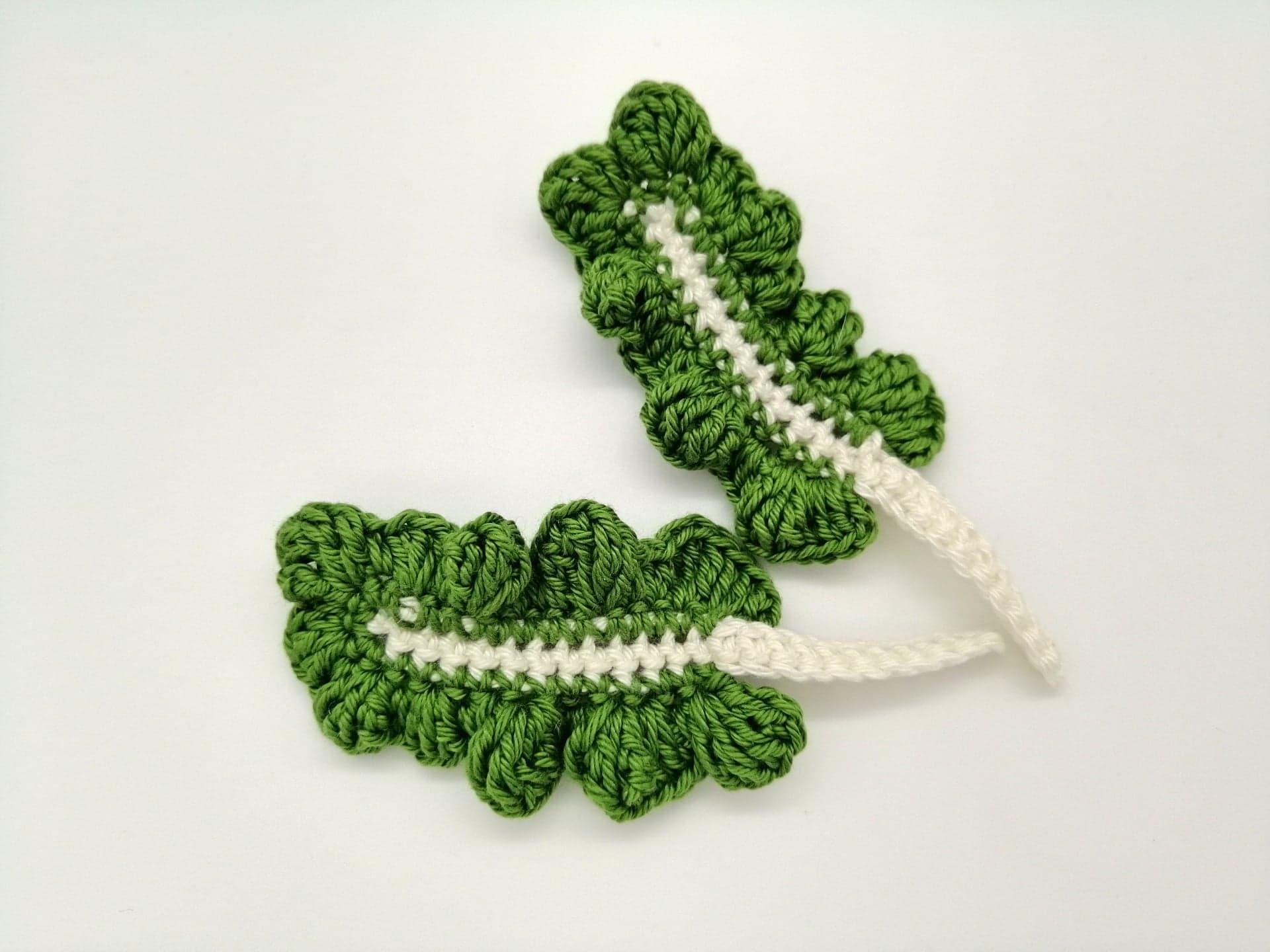 Tutoriel feuille de blette au crochet pour dinette/marchande
