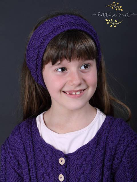 Aliel - Stirnband mit Zopfmuster