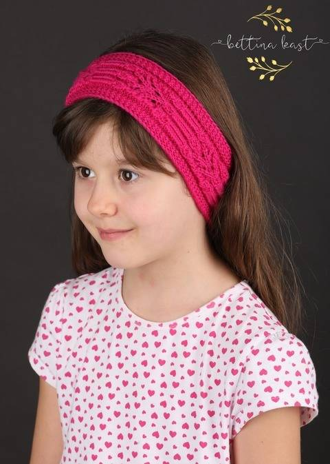 Yzbiel Stirnband mit japanischem Strickmuster Lace
