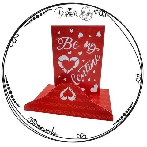Grußkarte Be my Valentine bei Makerist