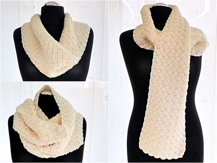 "Cozy Winter Scarf ""Hygge"" - Crochet Pattern at Makerist - Image 1"