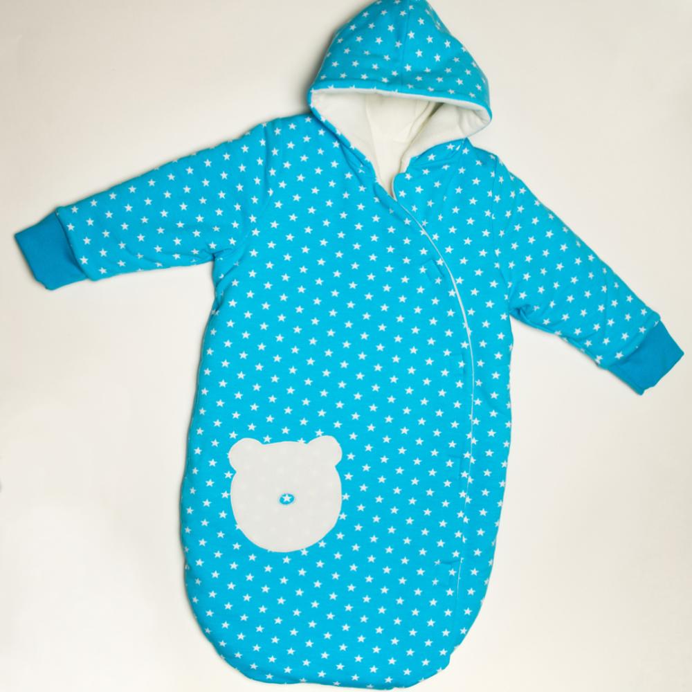 NEVIO Baby Outdoor Schlafsack Schnittmuster mit Kapuze