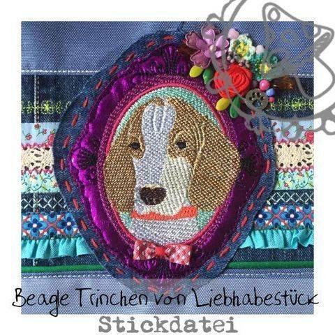 Stickdatei Beagle Trinchen von Liebhabestück