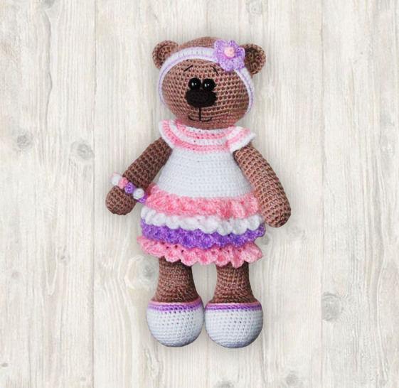 Bianca Bear Crochet Patterm, Amigurumi Bear Pattern at Makerist - Image 1