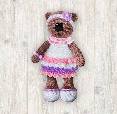 Bianca Bear Crochet Patterm, Amigurumi Bear Pattern