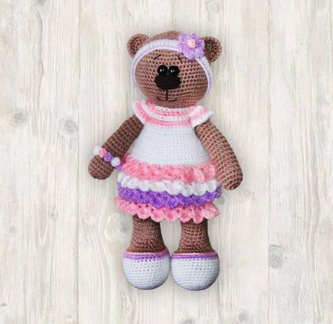 Bianca Bear Crochet Patterm, Amigurumi Bear Pattern