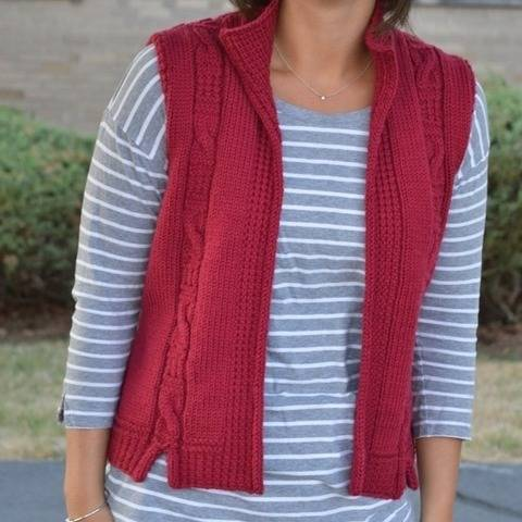 Kensington Vest - knitting pattern