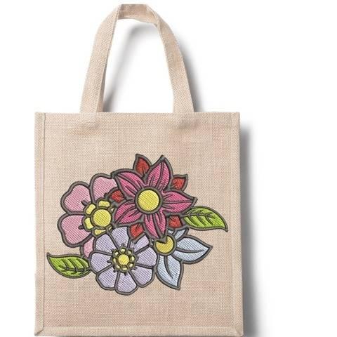Blumenbouquet - Stickdatei