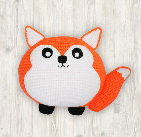 Fox Pillow Cushion Crochet Pattern at Makerist - Image 1