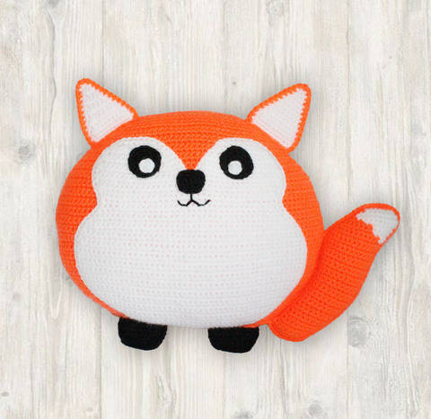 Fox Pillow Cushion Crochet Pattern