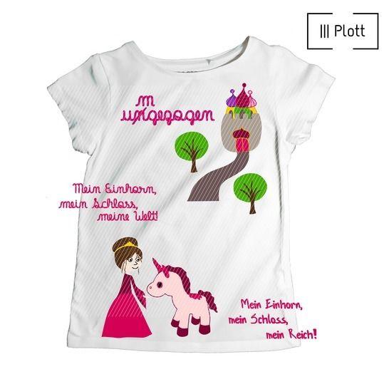 Prinzerinchen und ihr Einhorn | Plotterdatei bei Makerist - Bild 1