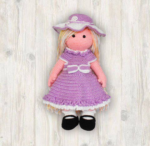 Grace Doll Crochet Pattern, Girl Crochet Pattern