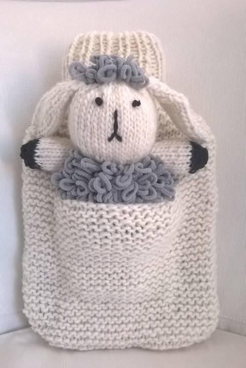 Wärmflaschenbezug mit Schaf Wilma bei Makerist