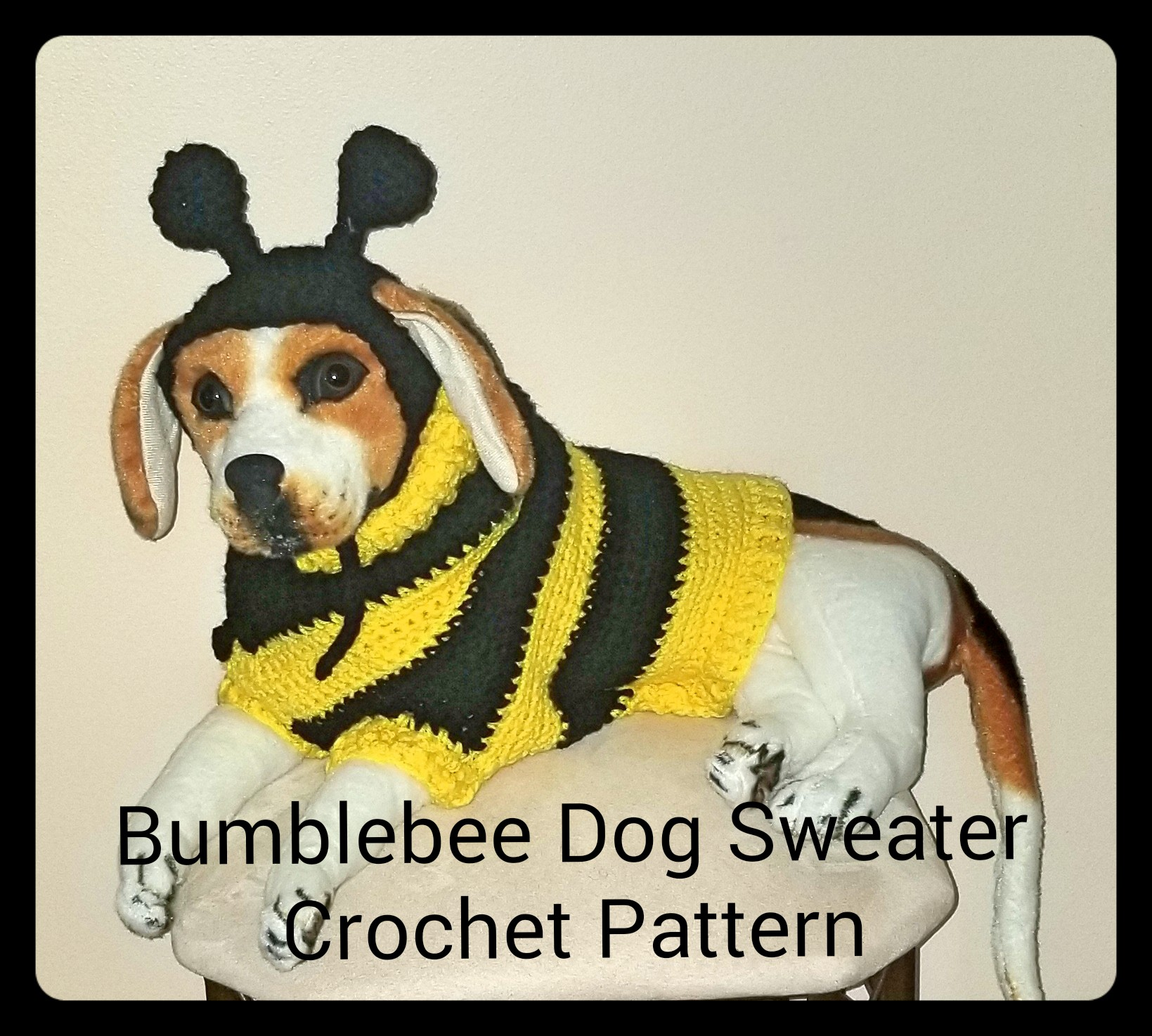 Bumblebee Dog Sweater and Hat Crochet Pattern