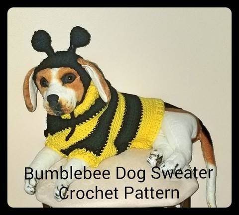 Bumblebee Dog Sweater and Hat Crochet Pattern at Makerist