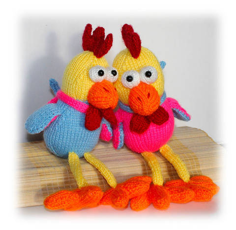 Rooster Knitting Pattern, Chicken Knitting Pattern