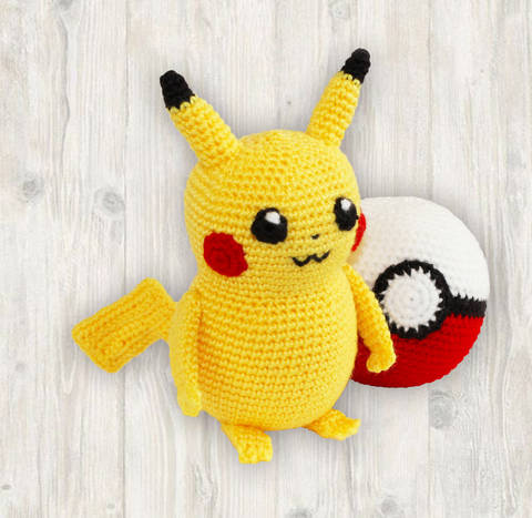 Pikachu Crochet Pattern, Pokemon Crochet Pattern