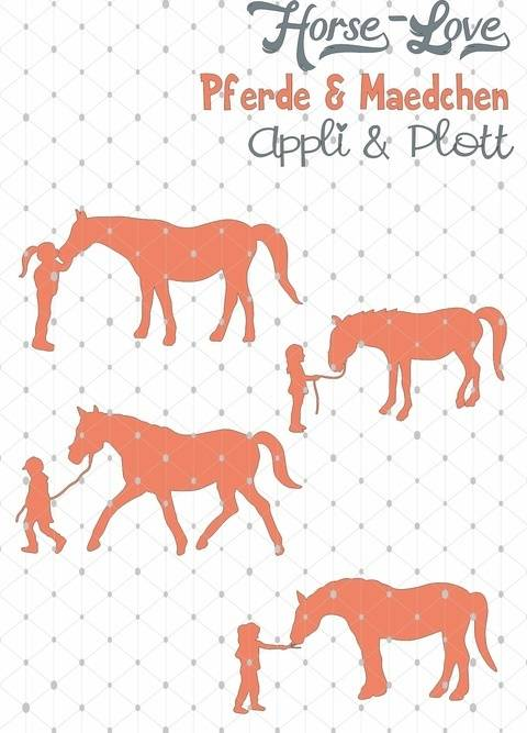Horse Love  Reiten Pferd  4 APPLI MOTIVE Mädchen + BONUSDEKO