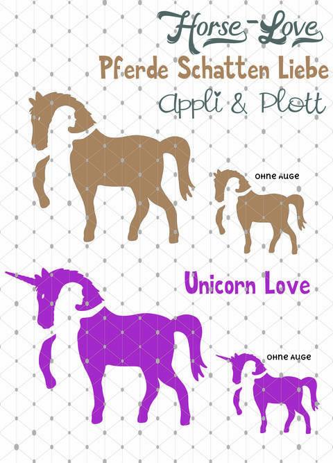APPLI Horse Love Reiten Pferd Pferdeliebe Einhorn + BONUS