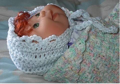 30 Minute Crocheted Baby Bonnet Pattern at Makerist