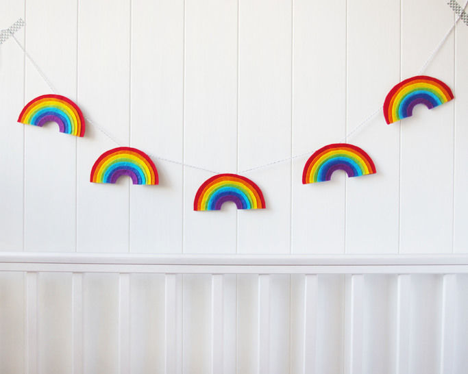 Felt Rainbow Garland Sewing Pattern - PDF Download at Makerist - Image 1