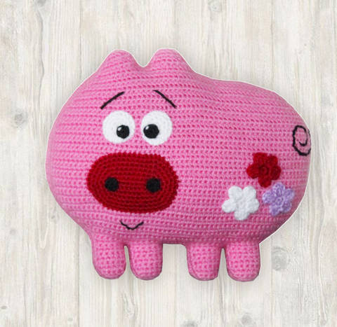 Pig Pillow Crochet Pattern