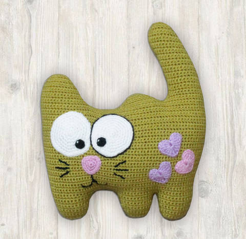 Cat Pillow Crochet Pattern