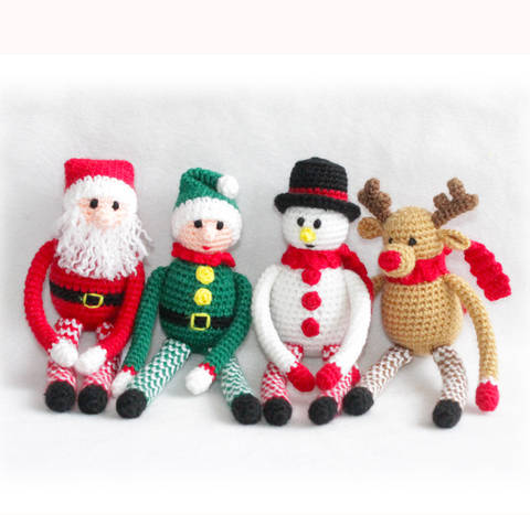 Christmas 4 x Toys Crochet Pattern
