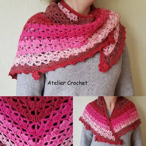 """Fleur d'hiver"" crochet shawl at Makerist"