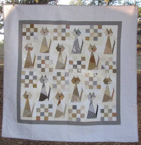 Scrappy Cat PDF Quilt Pattern