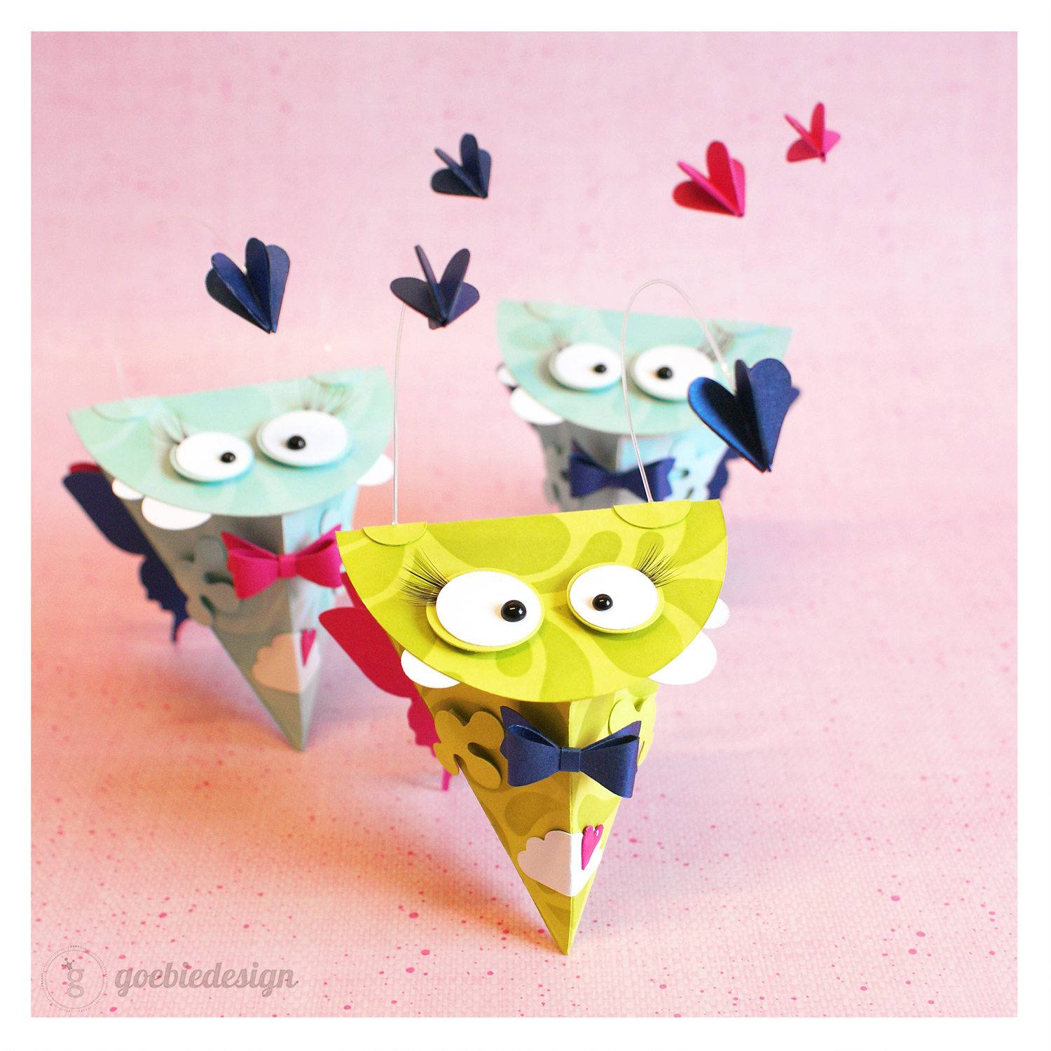 """cutting file - triangle monster box """"butterfly"""" - ENGL"""