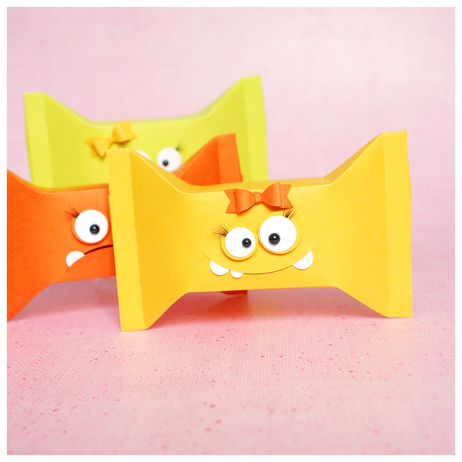 """cutting file - candy wrapper box """"monster"""" 3in1 ENGL"""