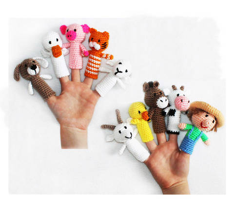 Old Macdonald Finger Puppets Crochet Pattern