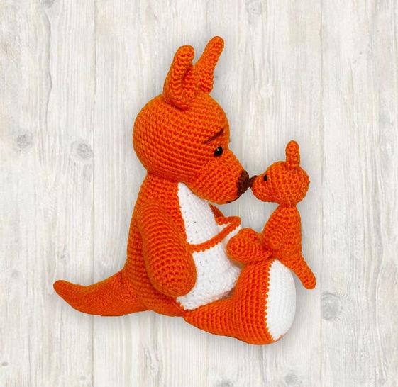 Mother Baby Kangaroo Crochet Pattern at Makerist - Image 1