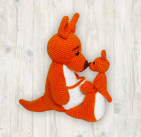 Mother Baby Kangaroo Crochet Pattern