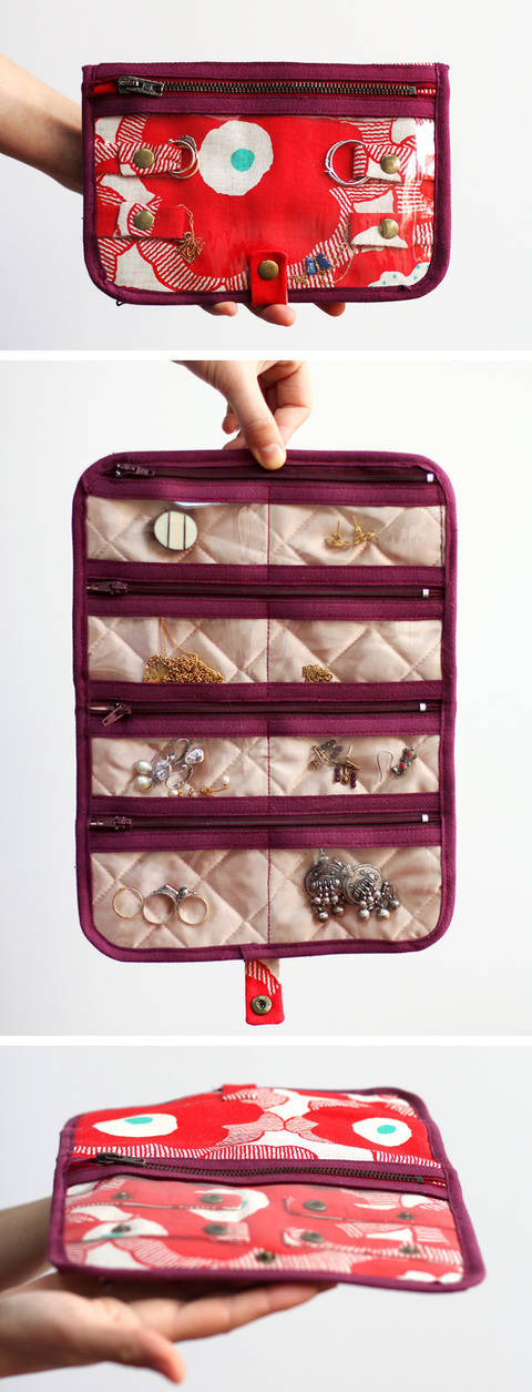 Jewelry Case Holder Jules - Sewing pattern