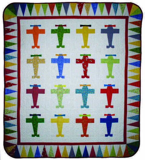 Fly Boy Baby PDF Quilt Pattern